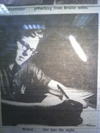 Taken for article in Amarillo newspaper about National Merit scholars. Shown as a writer even back then.